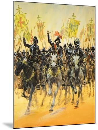 Spanish Conquistadors-Graham Coton-Mounted Giclee Print