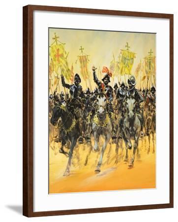 Spanish Conquistadors-Graham Coton-Framed Giclee Print