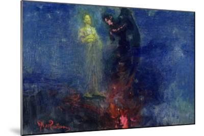 Get Thee Hence, Satan!-Ilya Efimovich Repin-Mounted Giclee Print