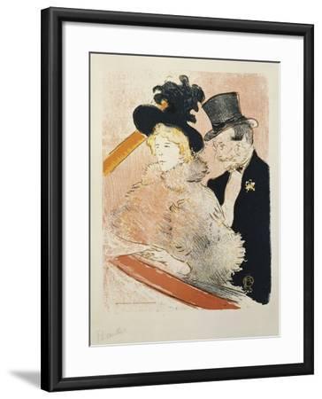 At the Concert, 1896-Henri de Toulouse-Lautrec-Framed Giclee Print