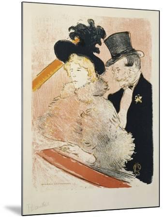At the Concert, 1896-Henri de Toulouse-Lautrec-Mounted Giclee Print