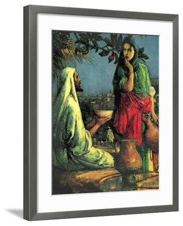 Jesus at Jacob's Well-John Millar Watt-Framed Giclee Print