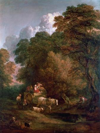 The Market Cart, 1786-Thomas Gainsborough-Framed Giclee Print