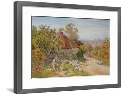 A Rest by the Way-Charles James Adams-Framed Giclee Print