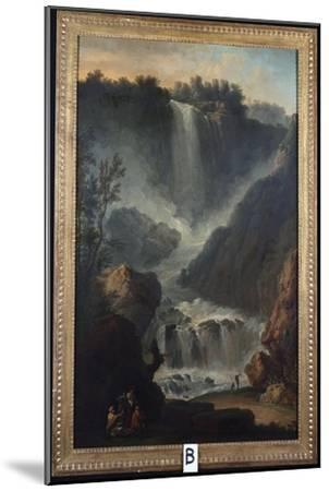 The Falls of Terni-Claude Joseph Vernet-Mounted Giclee Print