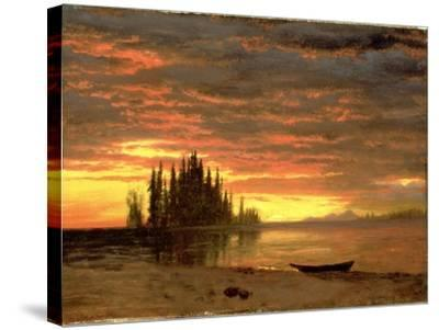 California Sunset-Albert Bierstadt-Stretched Canvas Print