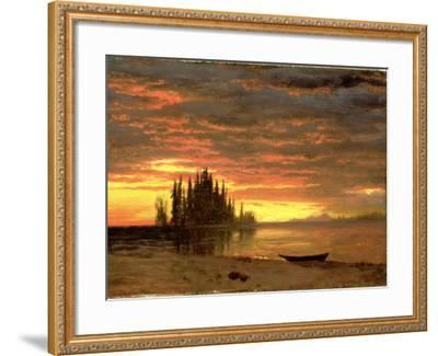 California Sunset-Albert Bierstadt-Framed Giclee Print