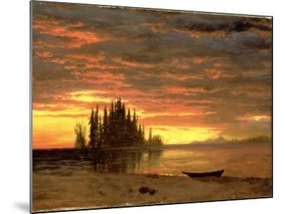 California Sunset-Albert Bierstadt-Mounted Giclee Print