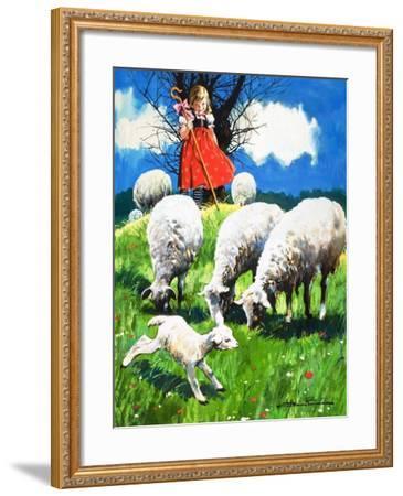 Little Bo Peep-Jesus Blasco-Framed Giclee Print