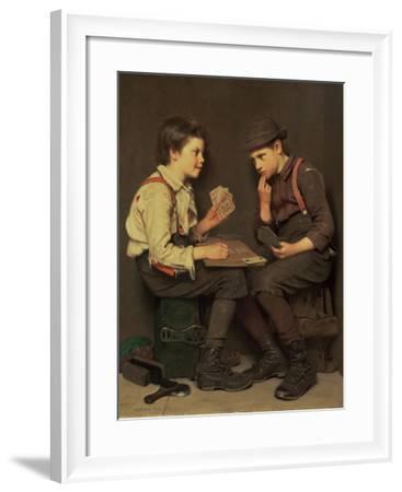 The Little Joker-John George Brown-Framed Giclee Print