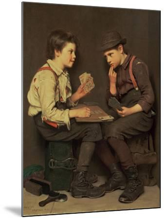 The Little Joker-John George Brown-Mounted Giclee Print