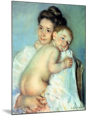 The Young Mother-Mary Cassatt-Mounted Giclee Print