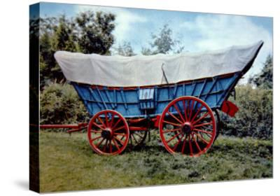 Conestoga Wagon-American School-Stretched Canvas Print