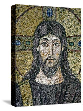 The Face of Christ-Byzantine School-Stretched Canvas Print