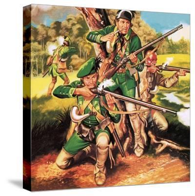 Rogers' Rangers-Ron Embleton-Stretched Canvas Print