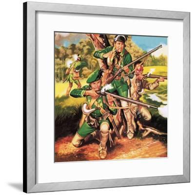 Rogers' Rangers-Ron Embleton-Framed Premium Giclee Print