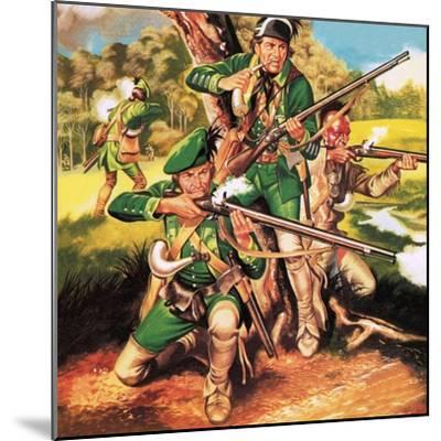 Rogers' Rangers-Ron Embleton-Mounted Premium Giclee Print