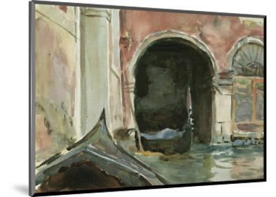 Venetian Canal-John Singer Sargent-Mounted Premium Giclee Print