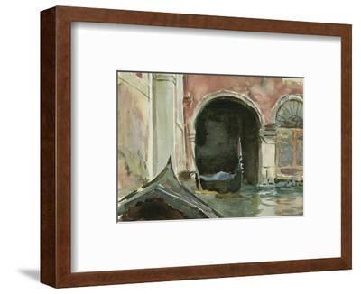 Venetian Canal-John Singer Sargent-Framed Premium Giclee Print