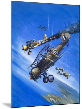 Gloster Gladiator-Wilf Hardy-Mounted Giclee Print