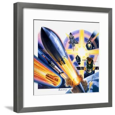 Heading for Space-Wilf Hardy-Framed Giclee Print