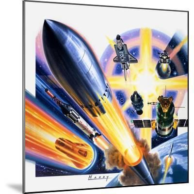 Heading for Space-Wilf Hardy-Mounted Giclee Print
