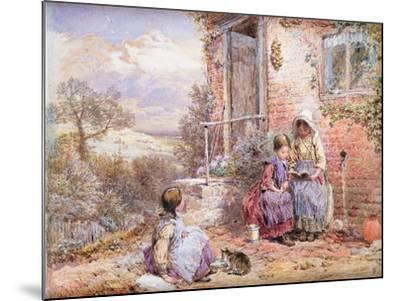 The Story Book-Myles Birket Foster-Mounted Giclee Print