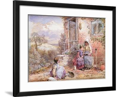The Story Book-Myles Birket Foster-Framed Giclee Print