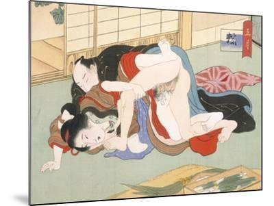 Couple Having Sex-Japanese School-Mounted Giclee Print