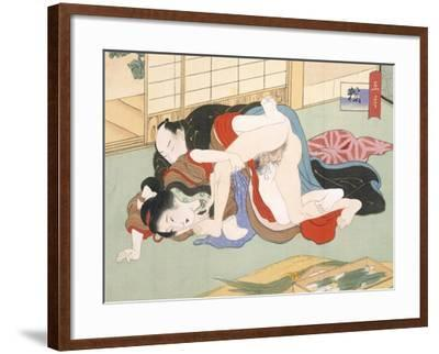 Couple Having Sex-Japanese School-Framed Giclee Print