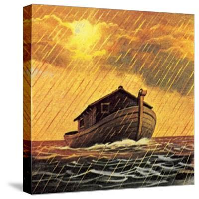 Noah's Ark-English School-Stretched Canvas Print