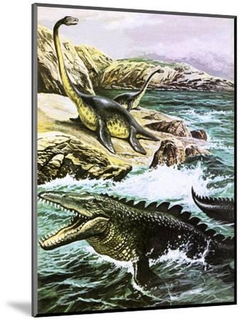 Plesiosaurus-Payne-Mounted Premium Giclee Print