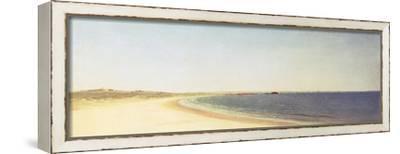 Near Newport-John Frederick Kensett-Framed Stretched Canvas Print