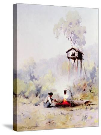 Campfire-Sidney Laurence-Stretched Canvas Print