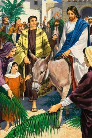 Palm Sunday-Clive Uptton-Stretched Canvas Print