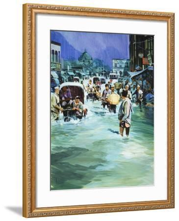 Indian Monsoon-Gerry Wood-Framed Giclee Print