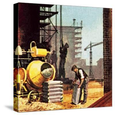 Construction-English School-Stretched Canvas Print