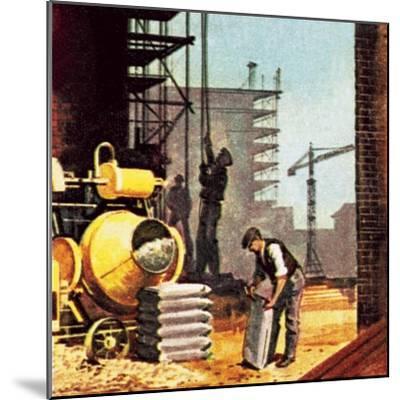 Construction-English School-Mounted Giclee Print