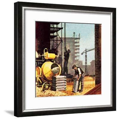 Construction-English School-Framed Giclee Print