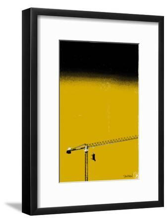 How High Is Your Cow? Yellow-Pascal Normand-Framed Art Print