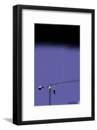 How High Is Your Cow? Blue-Pascal Normand-Framed Art Print