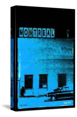 MTL Vice City - Blue-Pascal Normand-Stretched Canvas Print