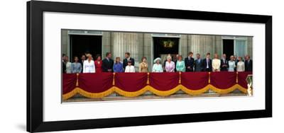 Royal Family on Queen Mother's 100th Birthday, Friday August 5, 2000--Framed Photographic Print