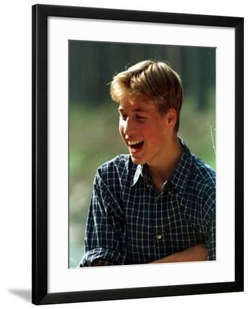 Prince William at River Dee, Balmoral, August 1988--Framed Photographic Print