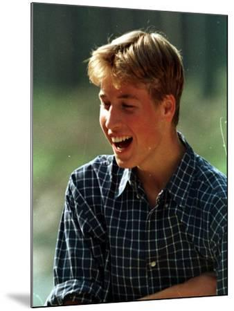 Prince William at River Dee, Balmoral, August 1988--Mounted Photographic Print