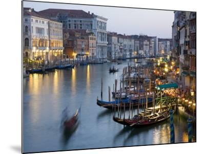 Outlook from Ponte Di Rialto Along Grand Canal at Dusk-David Tomlinson-Mounted Photographic Print