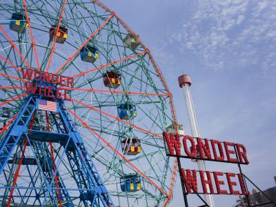 Historic Wonder Wheel Fairground, Coney Island-Christopher Groenhout-Stretched Canvas Print
