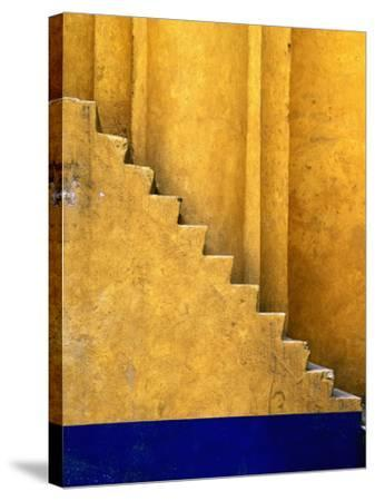 Tlaxcala Stairway at Parroquia De San Jose-Douglas Steakley-Stretched Canvas Print