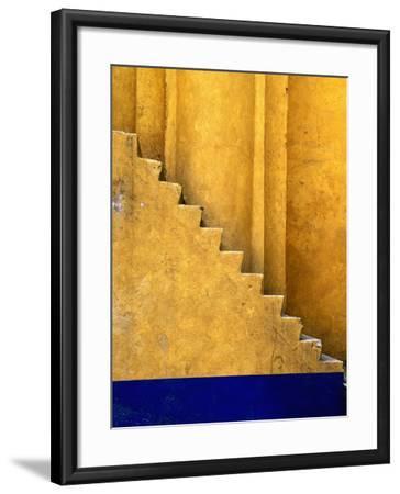 Tlaxcala Stairway at Parroquia De San Jose-Douglas Steakley-Framed Photographic Print