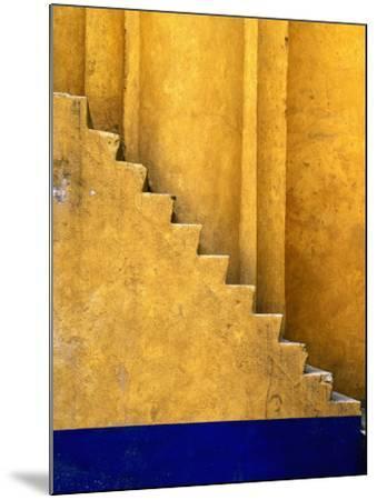 Tlaxcala Stairway at Parroquia De San Jose-Douglas Steakley-Mounted Photographic Print